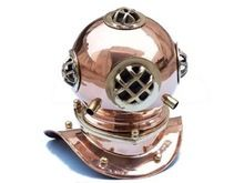 Brass and Copper Marine Diving Helmet
