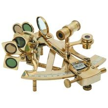 Brass Shiny Finish Decorative Nautical Sextant