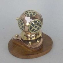 Copper 4 inch Mini Decorative Diving Helmet