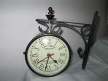 Double Face Station Clock