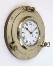 Marine Brass Porthole Wall Clock