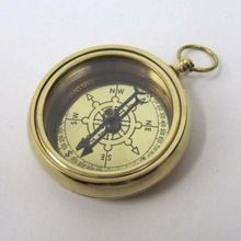 , Nautical Antique Brass Ship Compass