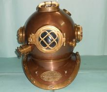 Nautical Brass and Copper Finish Mark V Steel Metal 18 inch Decorative Diving Helmet