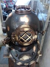 Nautical Copper Antique Finish Steel Metal Mark V Marine 18 inch Decorative Diving Helmet