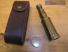 Vintage Antique Brass Telescope