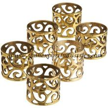 Brass Perforated Wedding napkin ring