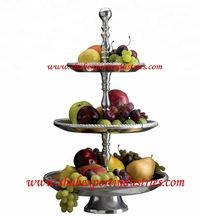cake stand silver finish