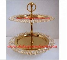 crystal beaded border cake stand