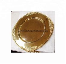 round gold charger plates