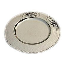 Silver Hammered Charger Plate
