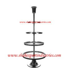 silver metal display decorating stand