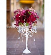 White Candelabra with flowers bowl