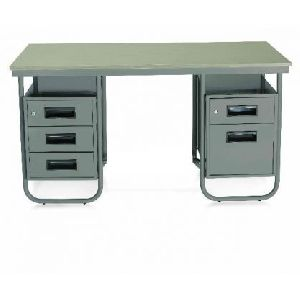 Steel office executive table 5 storage
