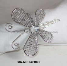 Beaded Butterfly Napkin Ring