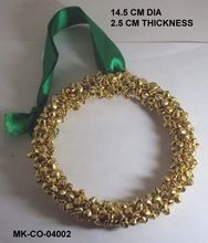 Golden Beads Christmas Tree Hanging Wreath