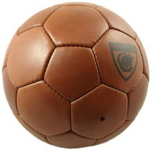 old fashioned leather soccer ball