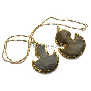 Moon Flat Electroplated Necklace