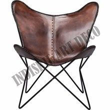 Authentic Leather Lounge Chair