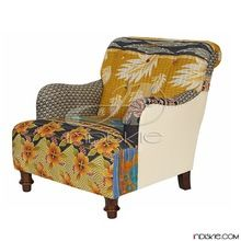 Colors Inspired Kantha Blanket Arm Chairs