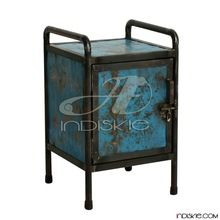 High Quality Nightstand, Vintage look Iron Bedside Table