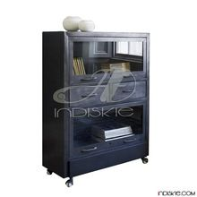Industrial Iron Metal Display File Rack Shelves Bookcase