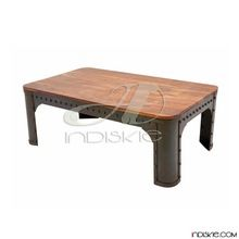 Industrial Riveted Metal Coffee Tables