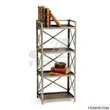 Iron Metal Shelves Bookcase