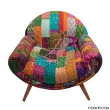 Kantha Upholstered Retro Chair