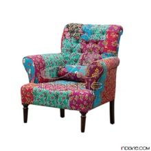 Living Room Floral Patchwork Multi Arm Chair