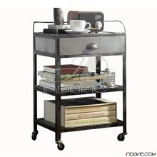 Metal Rolling Cart Bedside Table,