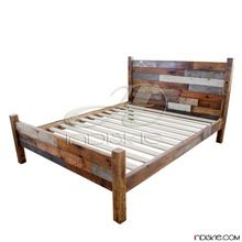 Reclaimed Wooden Bedroom Furniture King Bed