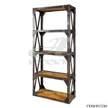 Shelving Industrial Vintage Shelves Bookcase