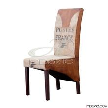Vintage Canvas Leather Restaurant Chairs