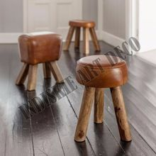 Vintage Horse Leather Stool