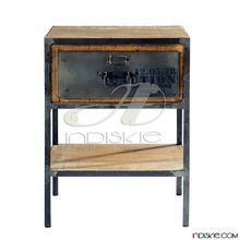 Vintage Industrial Furniture Bed Side Table,