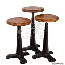 Vintage Industrial Living Room Stools