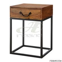 Vintage look Industrial Bed Side Table