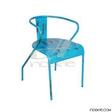 Vintage Metal Blue Color Garden Outdoor Chair