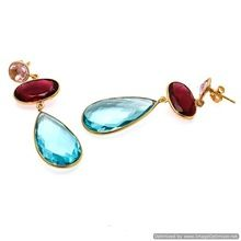 blue topaz earrings,