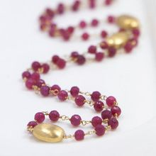 Dyed Ruby Gemstone Necklace