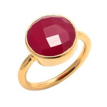 Dyed ruby Gemstone Ring