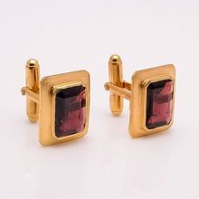 Garnet Gold Cuff links