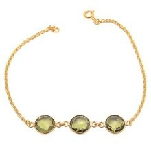 Green Amethyst bangle