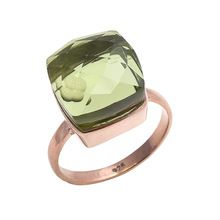 Green amethyst Quartz ring