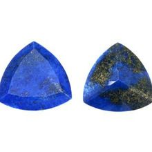Lapis Gemstone Trillion Cut Gemstone