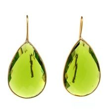 PERIDOT QUARTZ EARRINGS