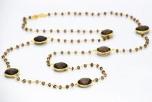 Smoky topaz Gemstone Necklace