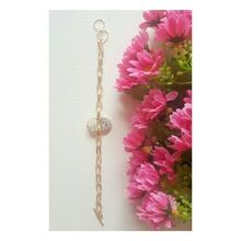 Gold Plated White D-Shape Simple Chain Bracelets