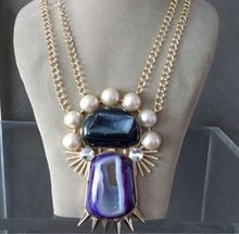 Gold Plated Window Slice Pearl Along With Spike Beautiful Handmade Necklace