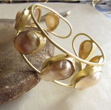Oyster Pearl Statement Vintage Wing Angel Jewelry Cuff